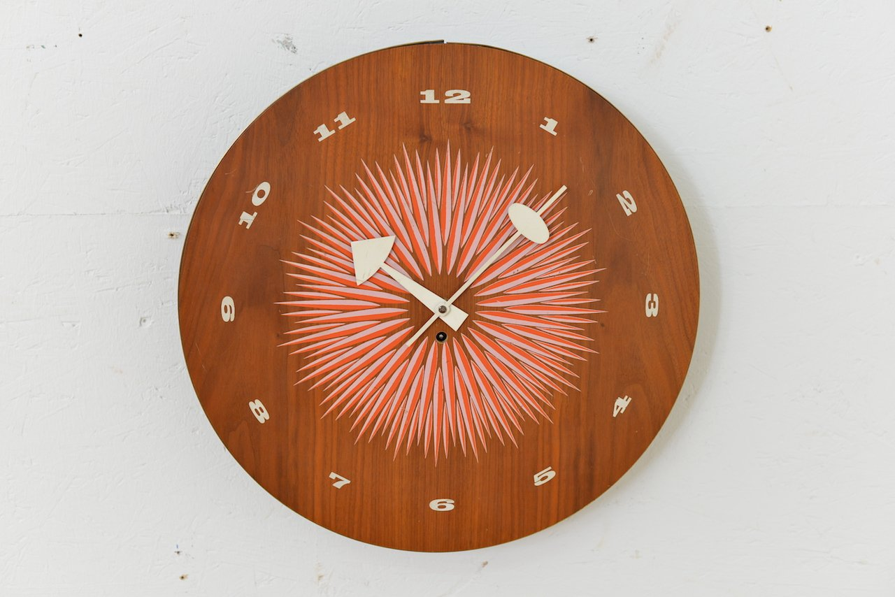 midcentury wall clock by george nelson for howard miller for sale  - midcentury wall clock by george nelson for howard miller
