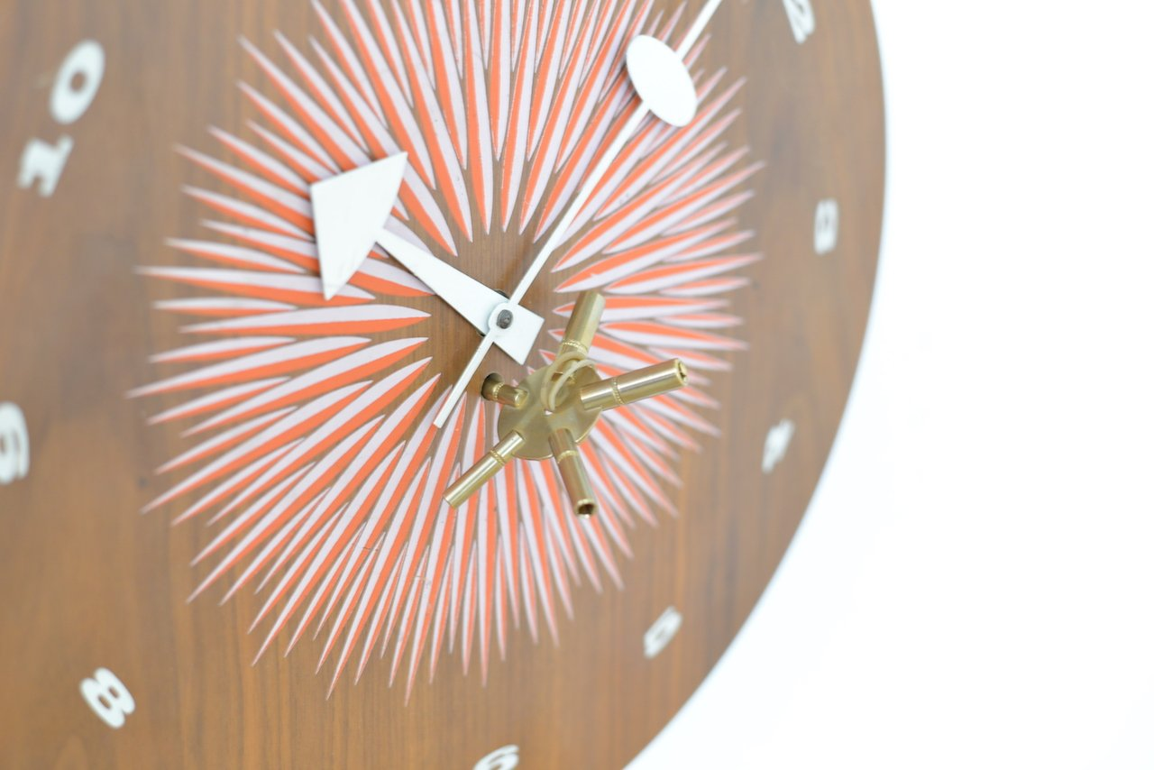 midcentury wall clock by george nelson for howard miller for sale  - price per piece