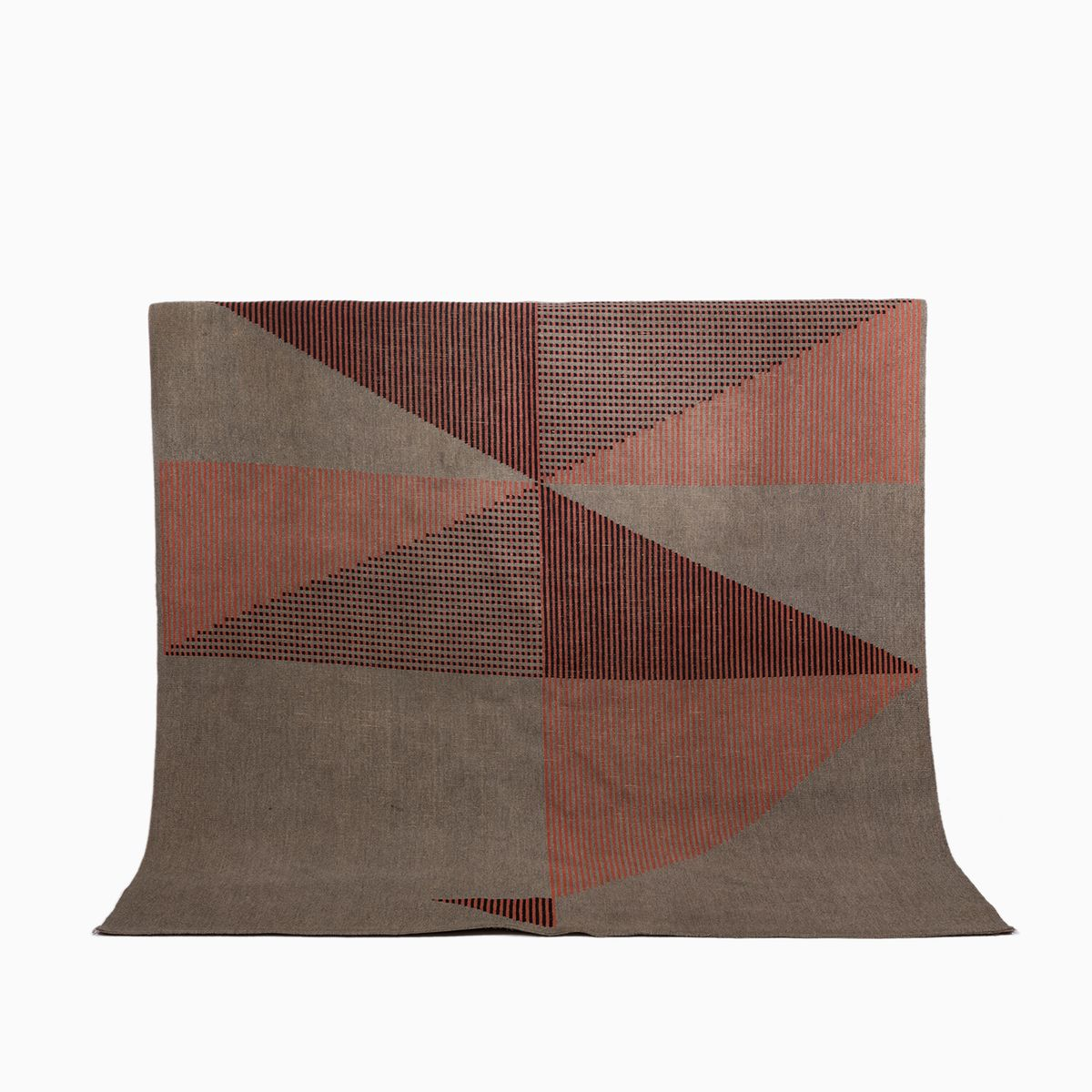 Mid Century Carpet With Geometrical Pattern By Antonn