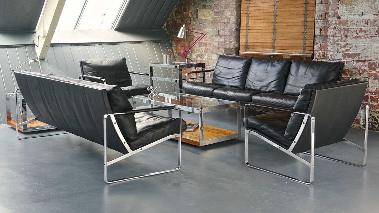 mid-century modern living room setpreben fabricius for walter