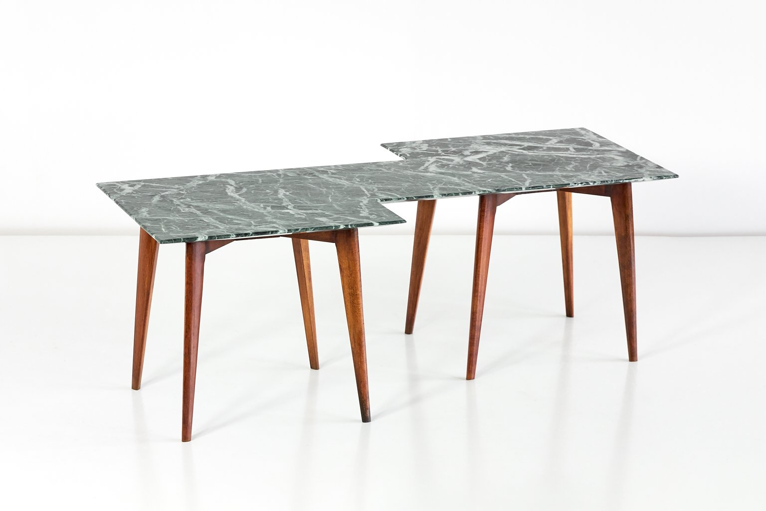 Italian Coffee Tables Marble Geometric Italian Coffee Table With Green Marble Top For Sale At