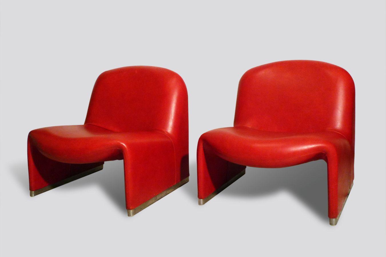 italienische mid century alki sessel von giancarlo piretti. Black Bedroom Furniture Sets. Home Design Ideas