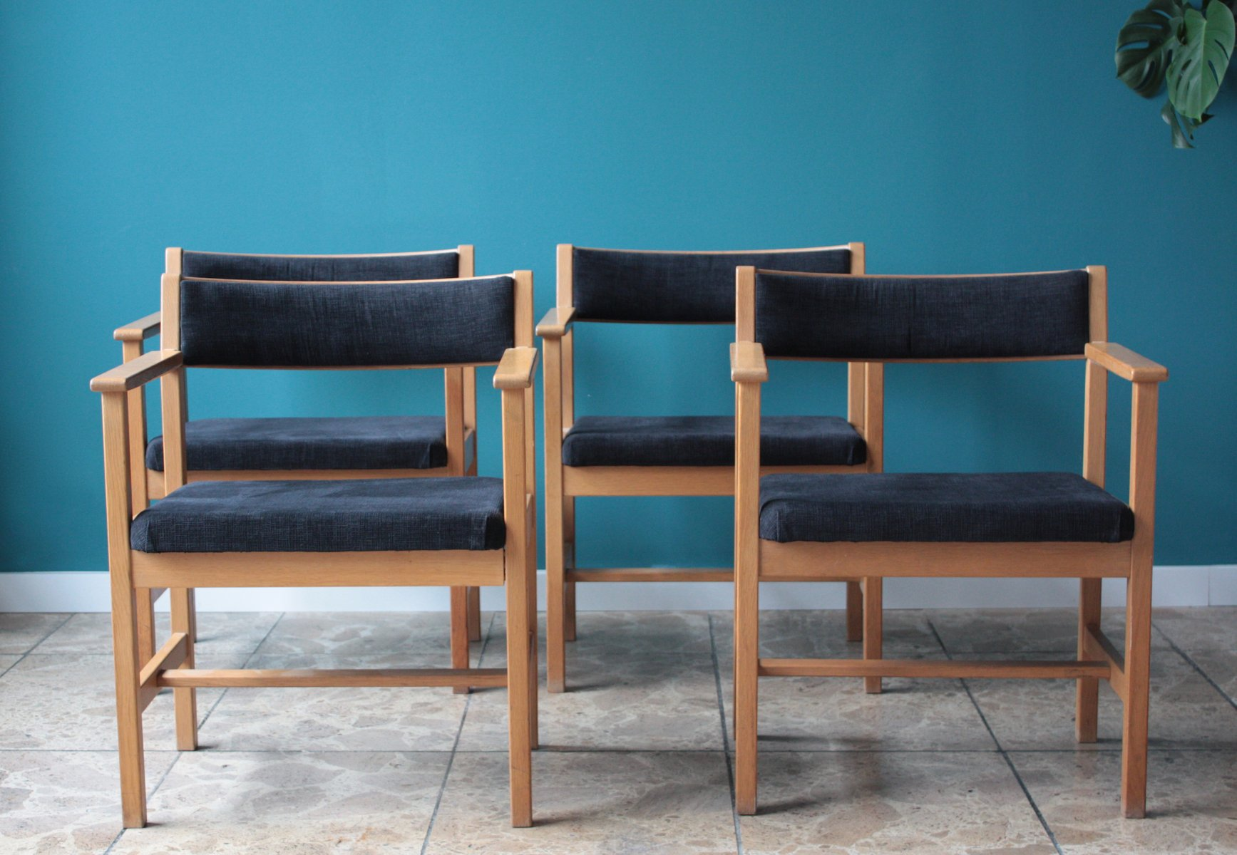 Mid Century Scandinavian Model 3242 Dining Chairs by Borge