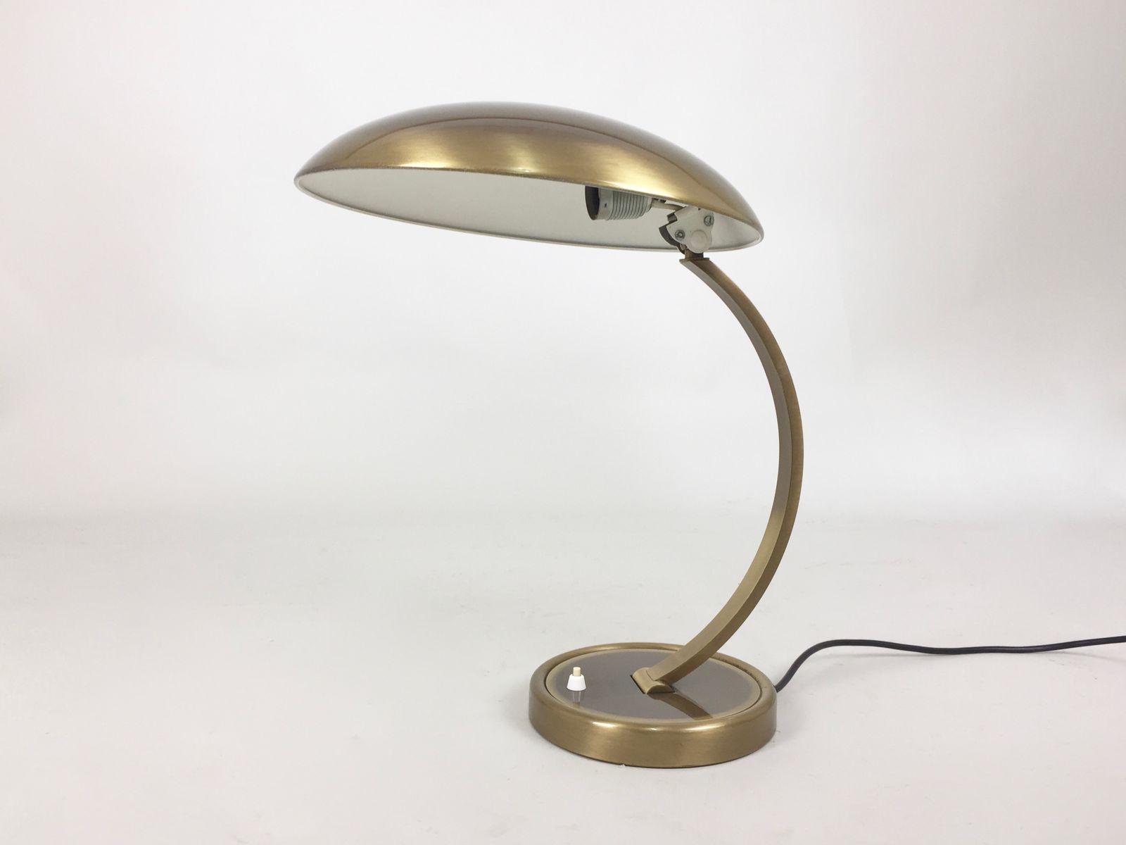 lampe de bureau mid century bauhaus en laiton par christian dell pour kaiser leuchten 1950s en. Black Bedroom Furniture Sets. Home Design Ideas
