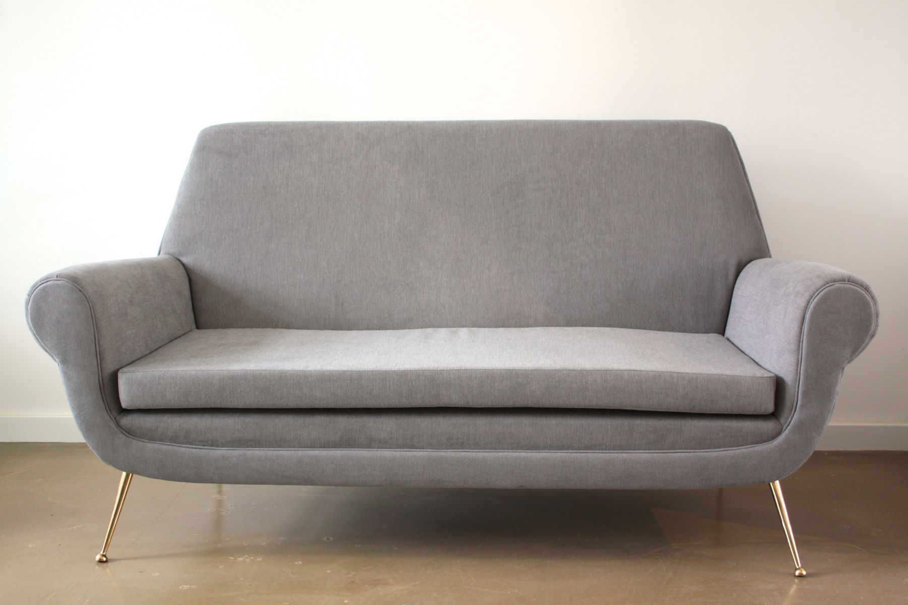Mid Century Gray Sofa by Gigi Radice for Minotti 1950s for sale