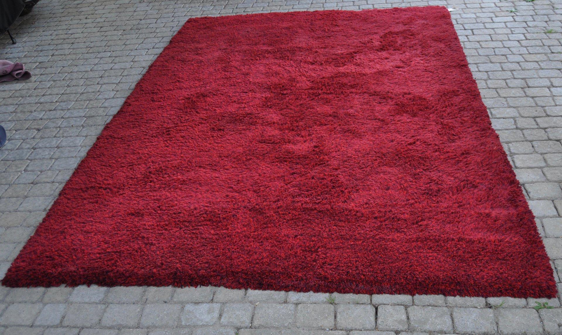 tapis vintage fait main en laine rouge de tisca 1980s en vente sur pamono. Black Bedroom Furniture Sets. Home Design Ideas