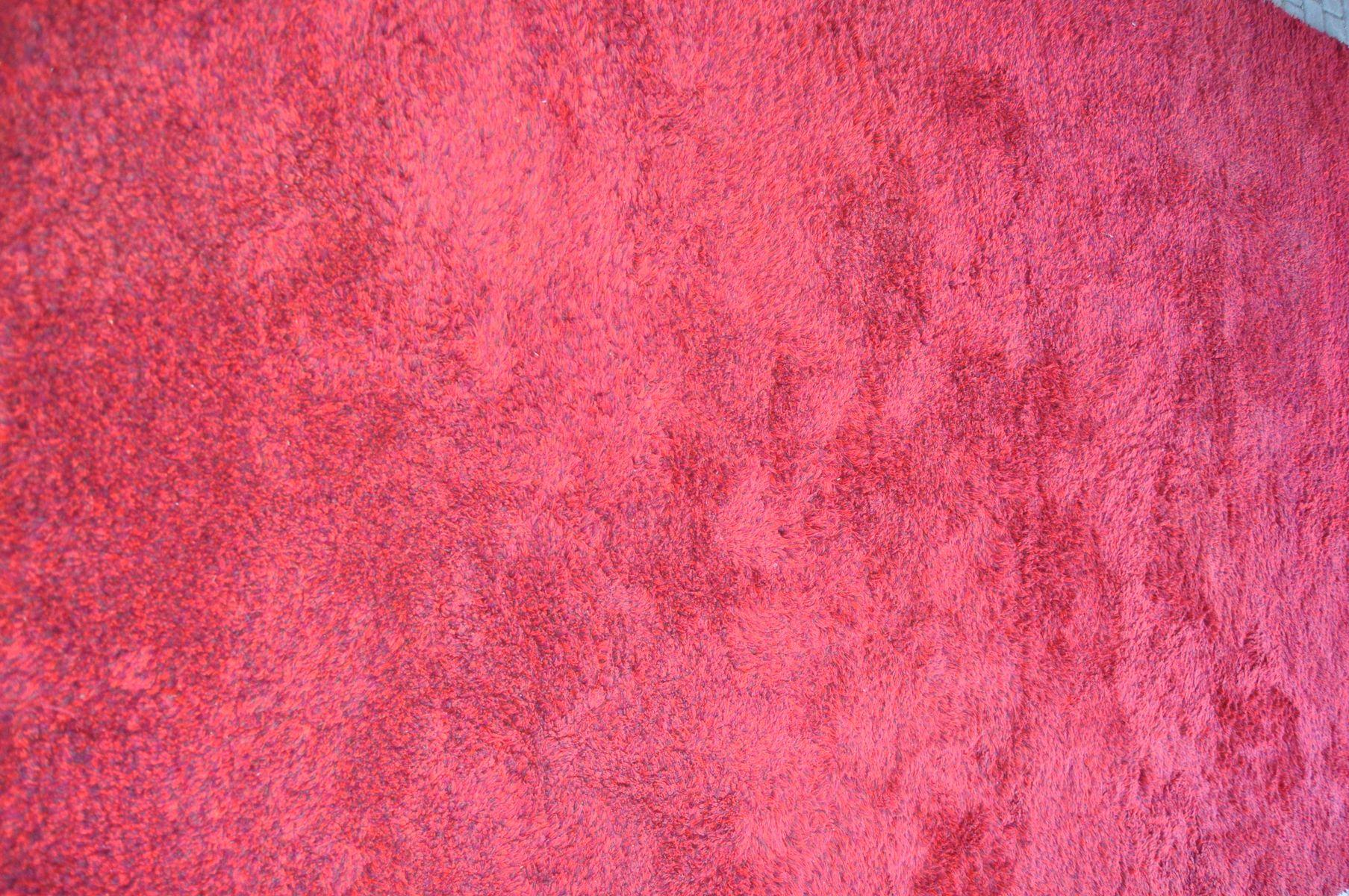 handgefertigter vintage teppich aus roter wolle von tisca. Black Bedroom Furniture Sets. Home Design Ideas