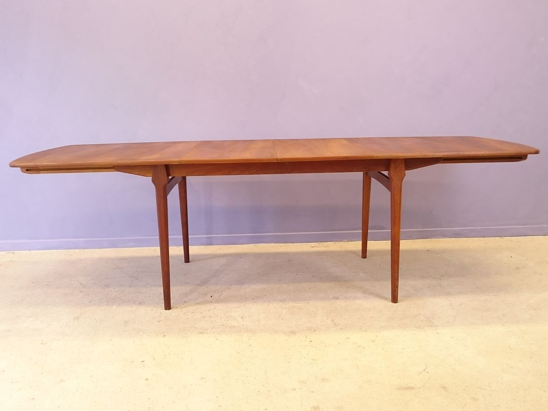 Scandinavian extensible dining table in teak 1950s for sale at pamono - Table extensible scandinave ...
