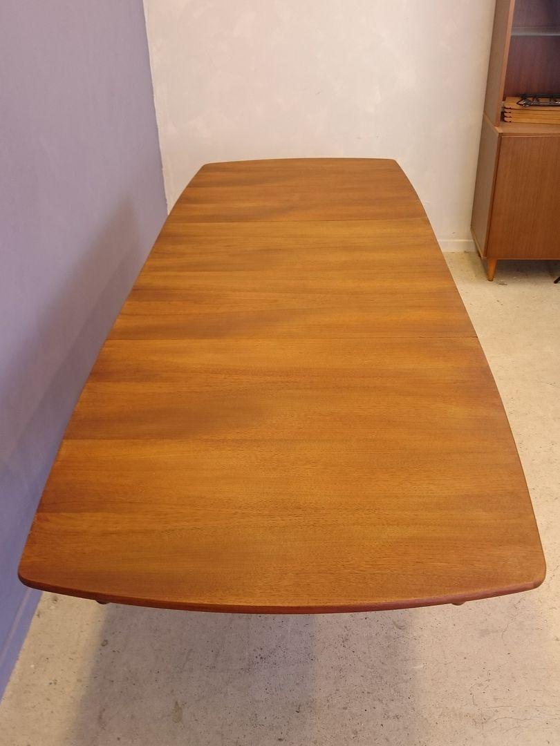 ausziehbarer skandinavischer teak esstisch 1950er bei pamono kaufen. Black Bedroom Furniture Sets. Home Design Ideas