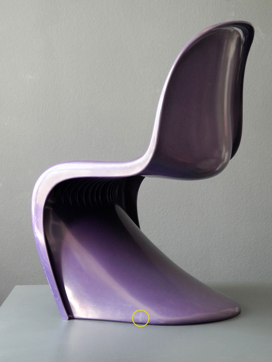 lila panton stuhl von verner panton f r herman miller fehlbaum 1976 bei pamono kaufen. Black Bedroom Furniture Sets. Home Design Ideas