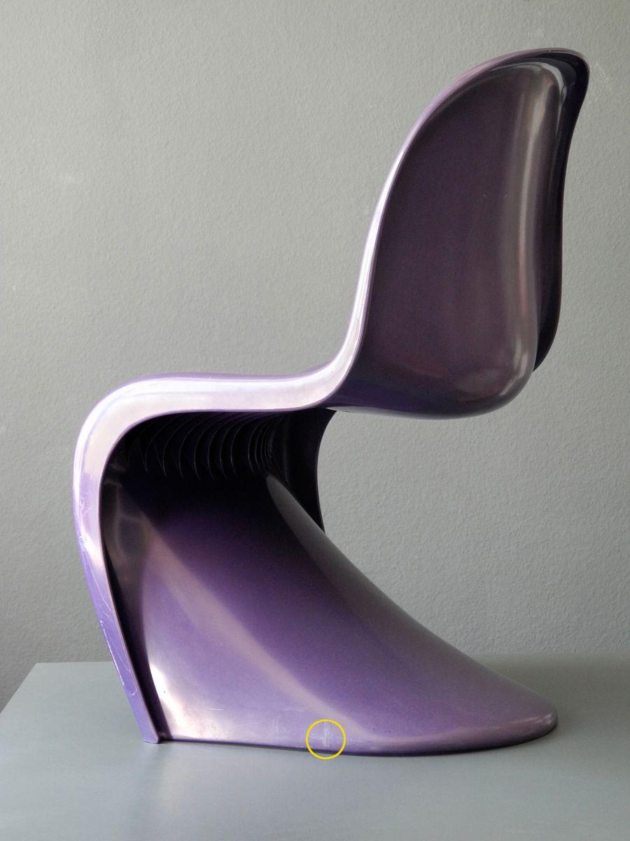 purple panton chair by verner panton for herman miller fehlbaum 1976 bei pamono kaufen. Black Bedroom Furniture Sets. Home Design Ideas
