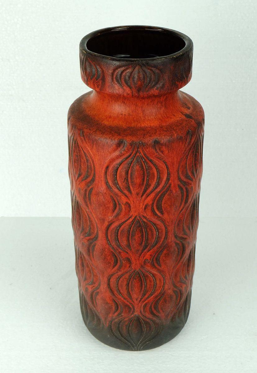 Modell 285 40 amsterdam red and orange vase from scheurich for Orange vase