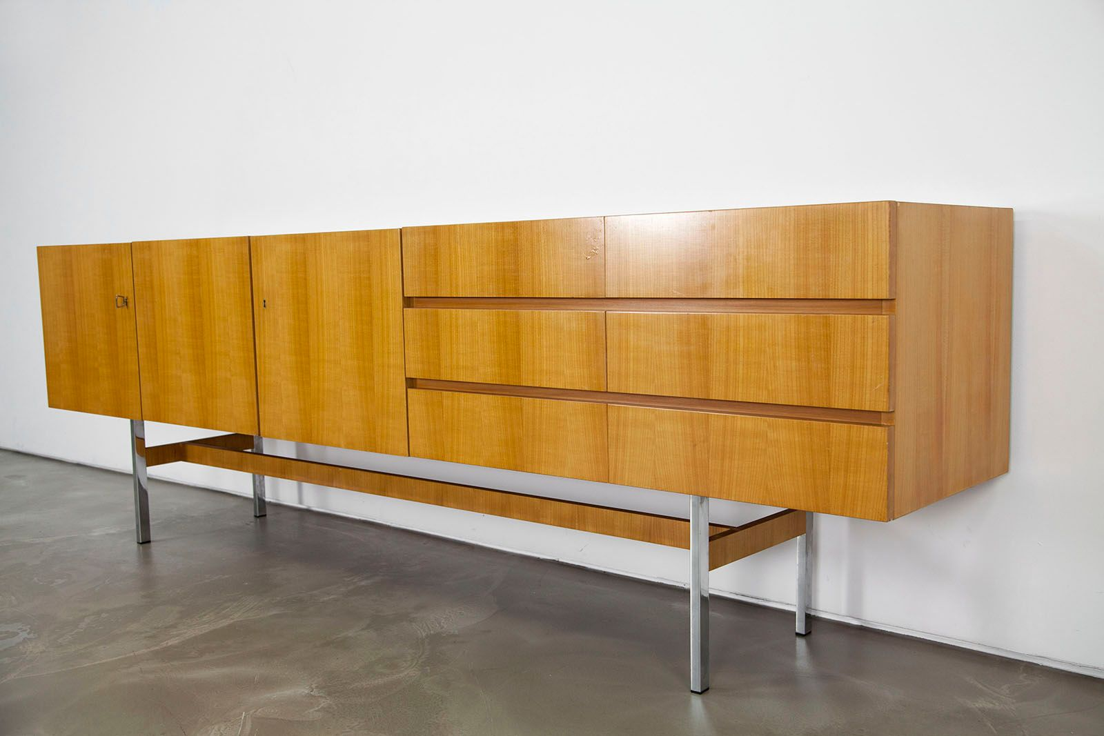mid century sideboard von musterring 1960s for sale at pamono. Black Bedroom Furniture Sets. Home Design Ideas
