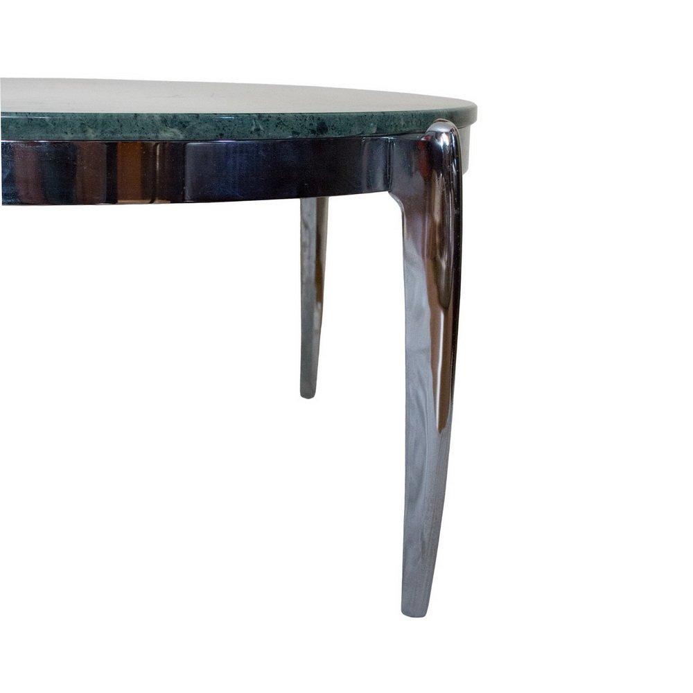 Table basse en marbre et acier inoxydable 1970s en vente - Table en acier inoxydable ...