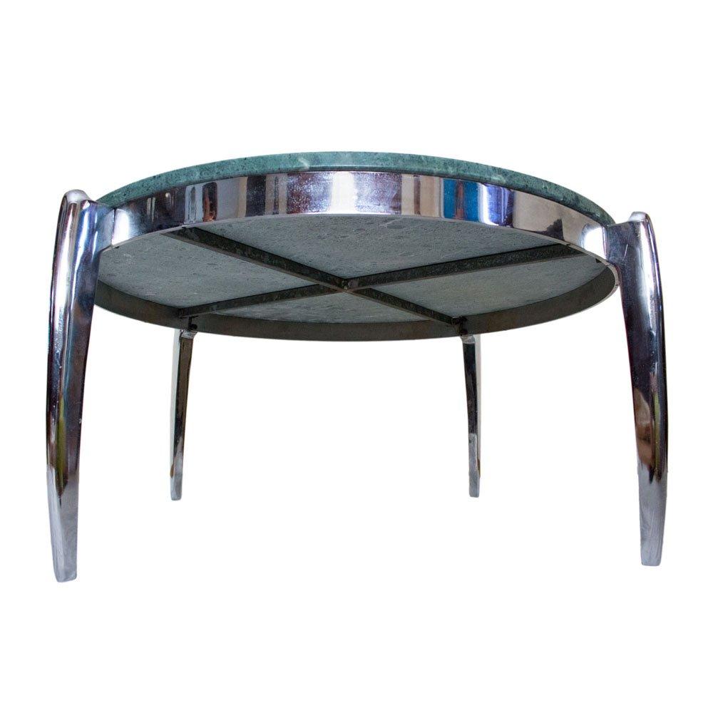 couchtisch aus marmor und edelstahl 1970er bei pamono kaufen. Black Bedroom Furniture Sets. Home Design Ideas