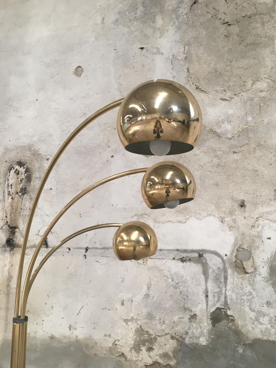 Vintage Arch Floor Lamp with 3 Lights by Goffredo Reggiani, 1970s for sale at...