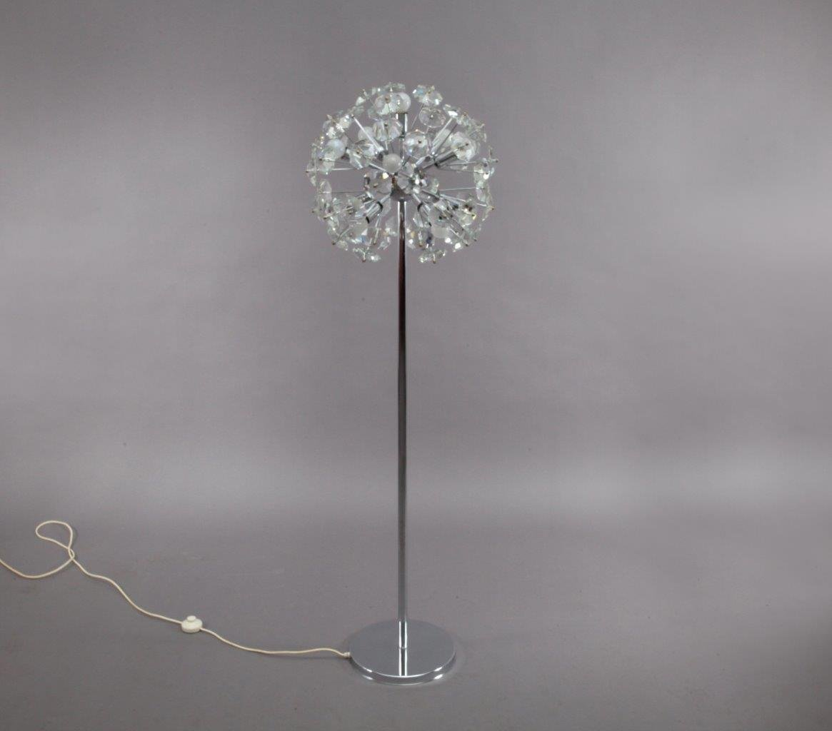 space age snowflake floor lamp from kinkeldey 1970 for sale at pamono. Black Bedroom Furniture Sets. Home Design Ideas