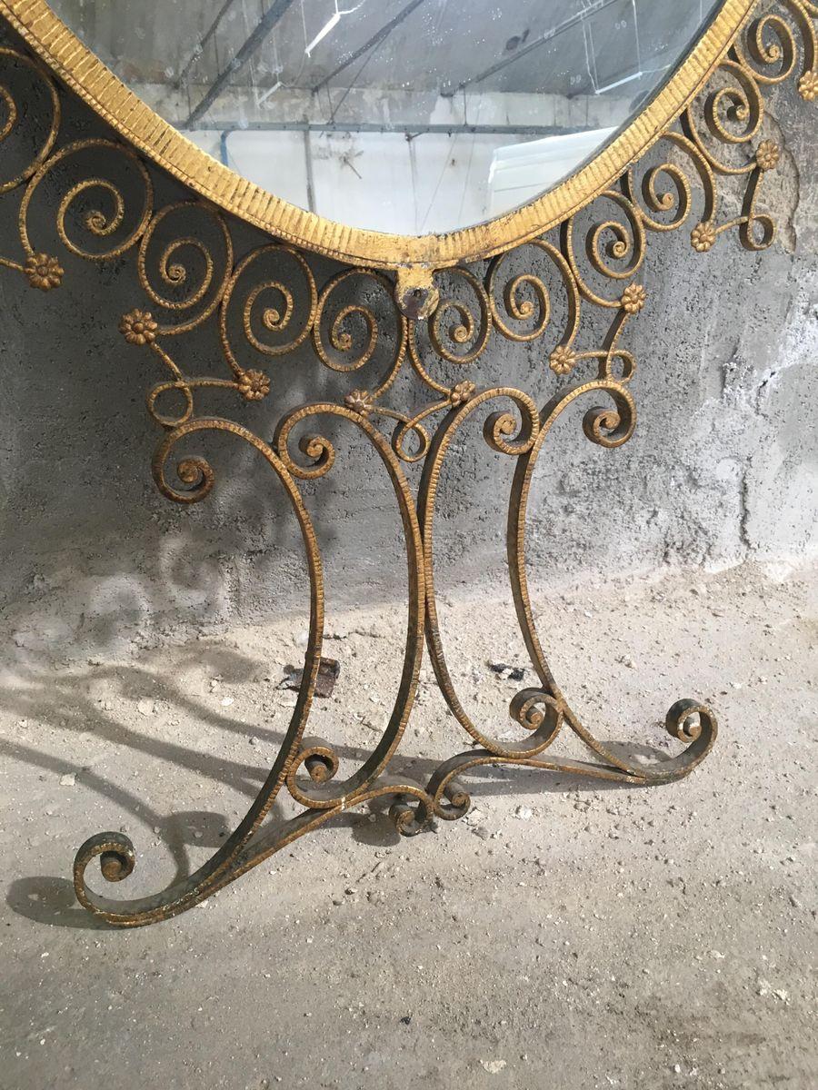 Miroir mural avec console par pier luigi colli pour for Colle pour miroir mural
