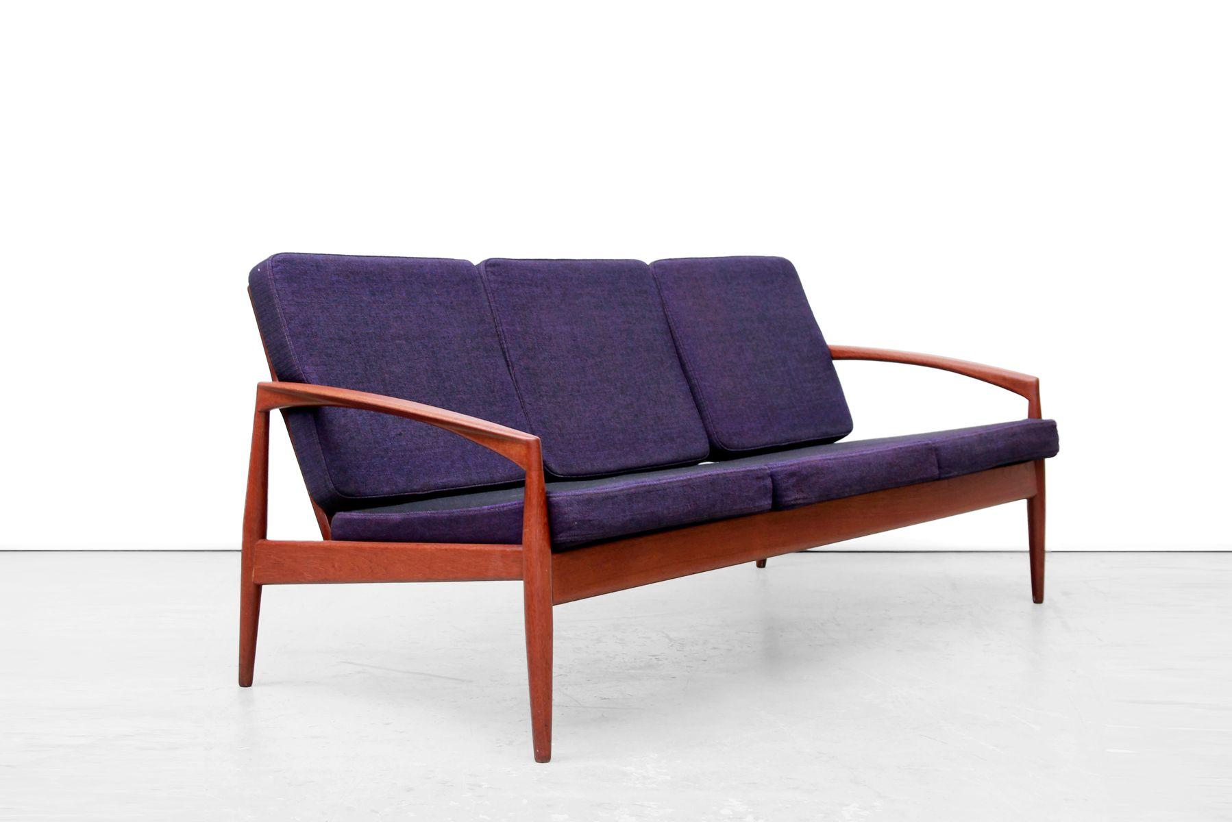 d nisches modell 121 paperknife teak sofa von kai. Black Bedroom Furniture Sets. Home Design Ideas