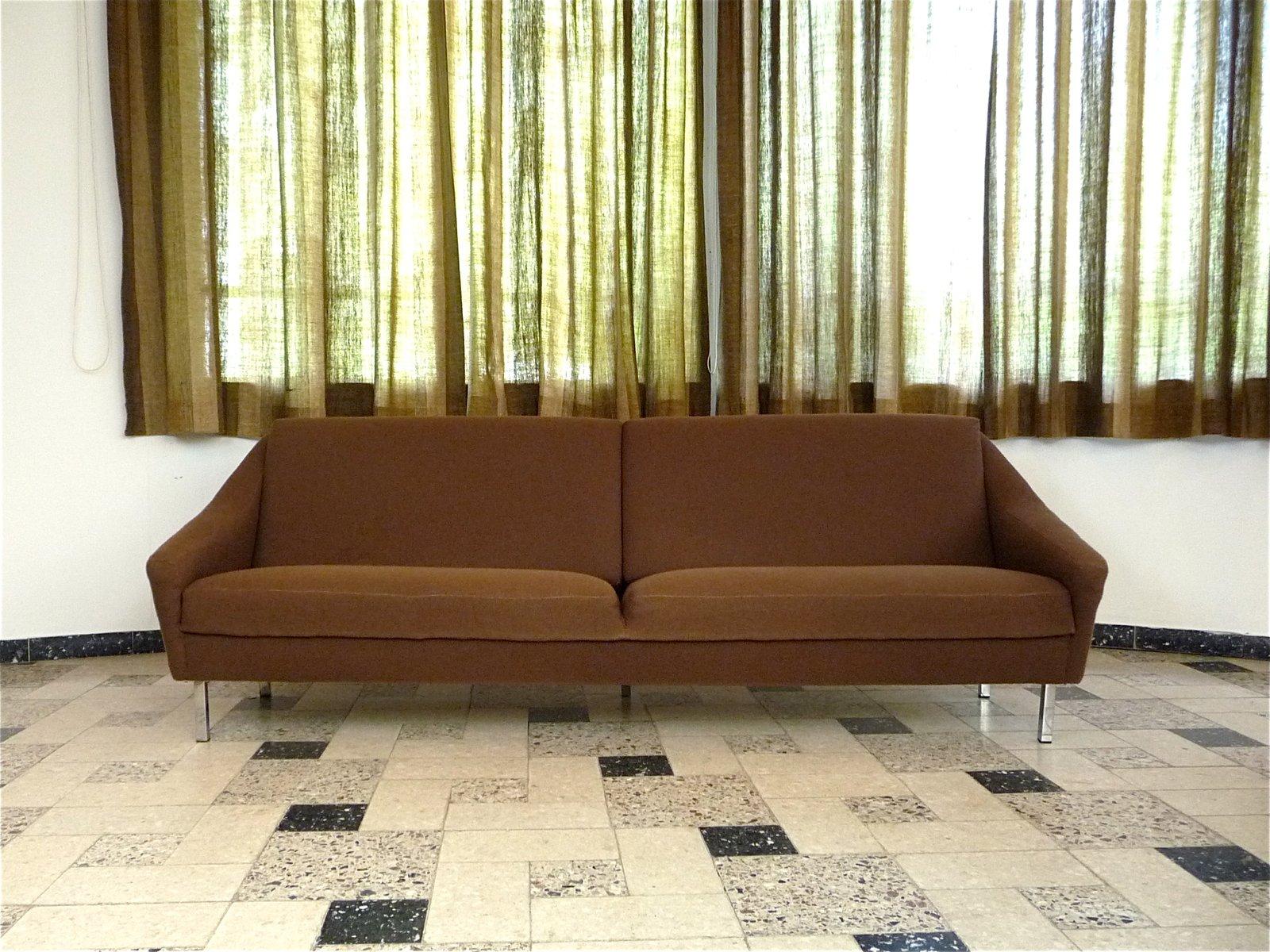 Large German Four-Seater Sofa by Eddie Harlis for Hans Kaufeld ...
