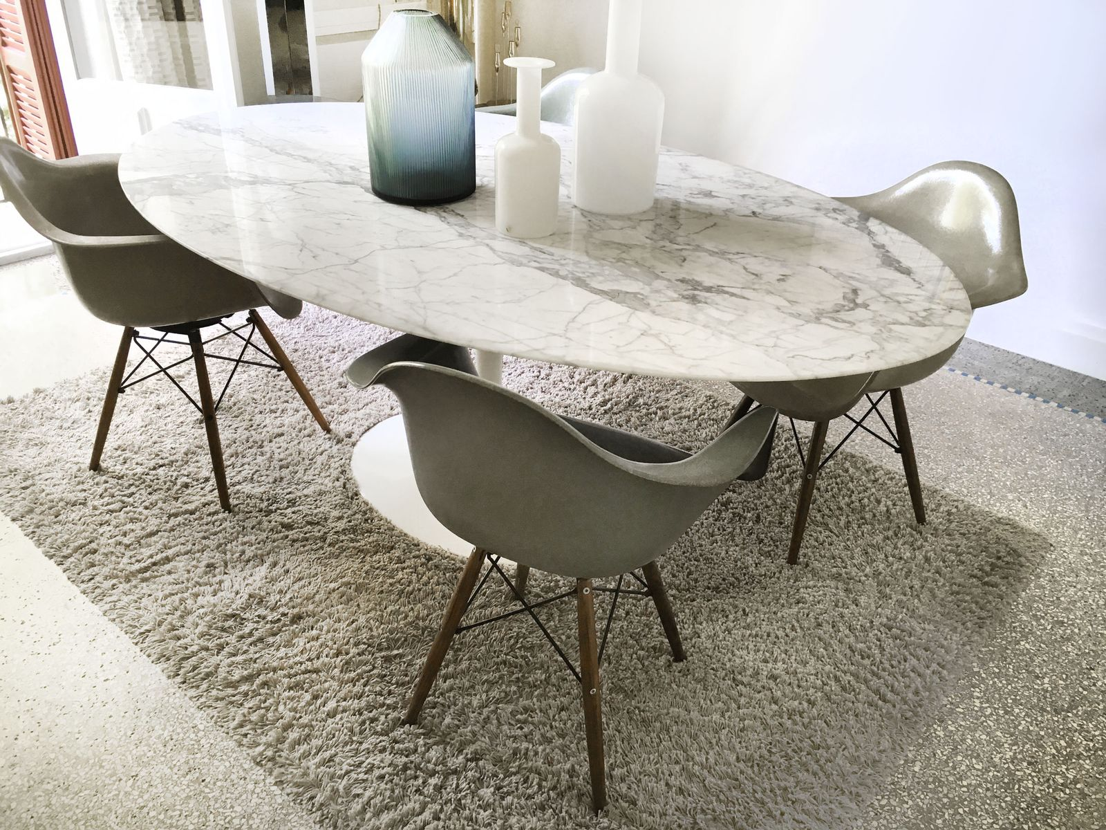 marble dining table by eero saarinen for knoll for sale at pamono
