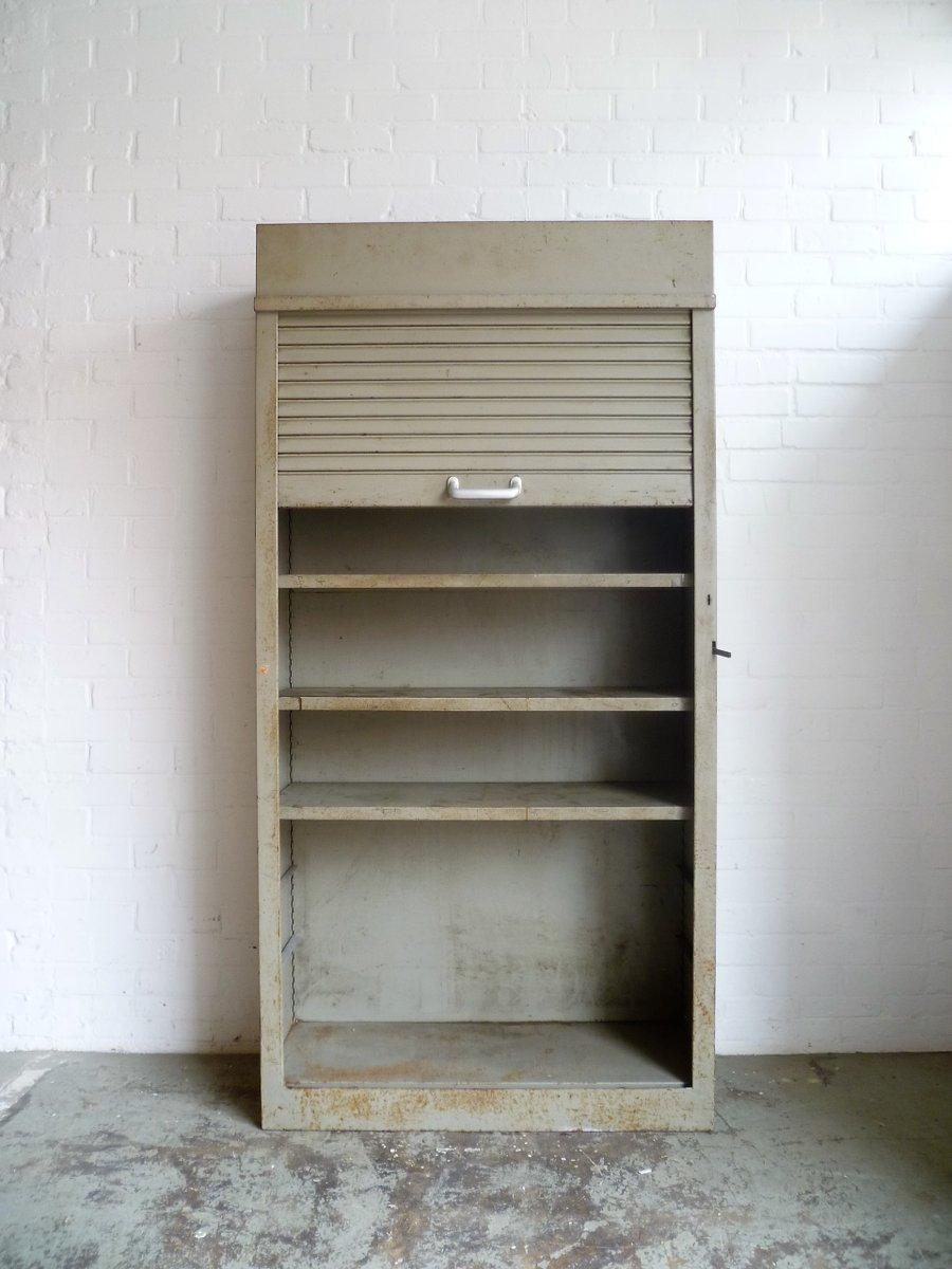 meuble de rangement d 39 usine industriel 1980s en vente sur pamono. Black Bedroom Furniture Sets. Home Design Ideas