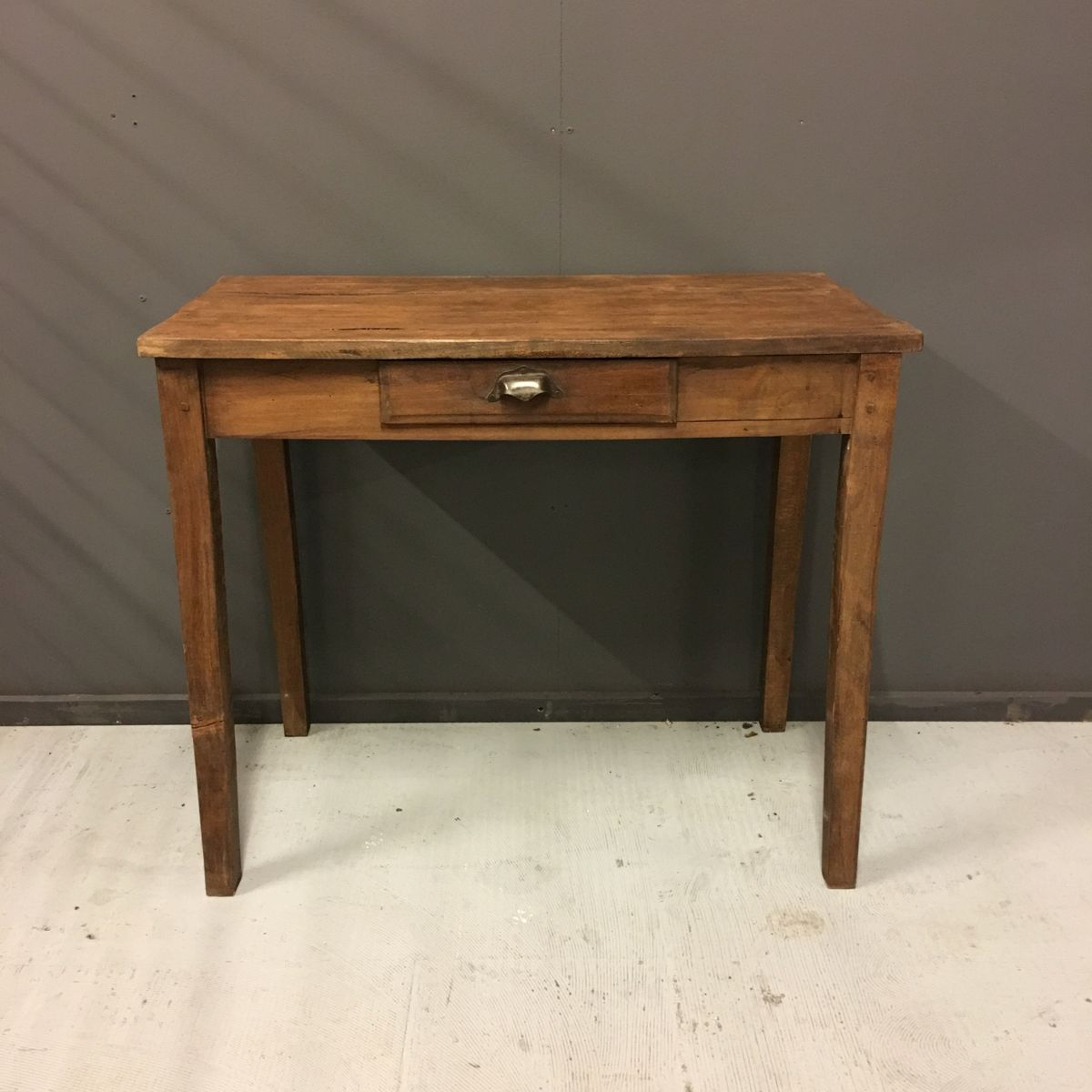 Delightful Small French Antique Table With Drawer