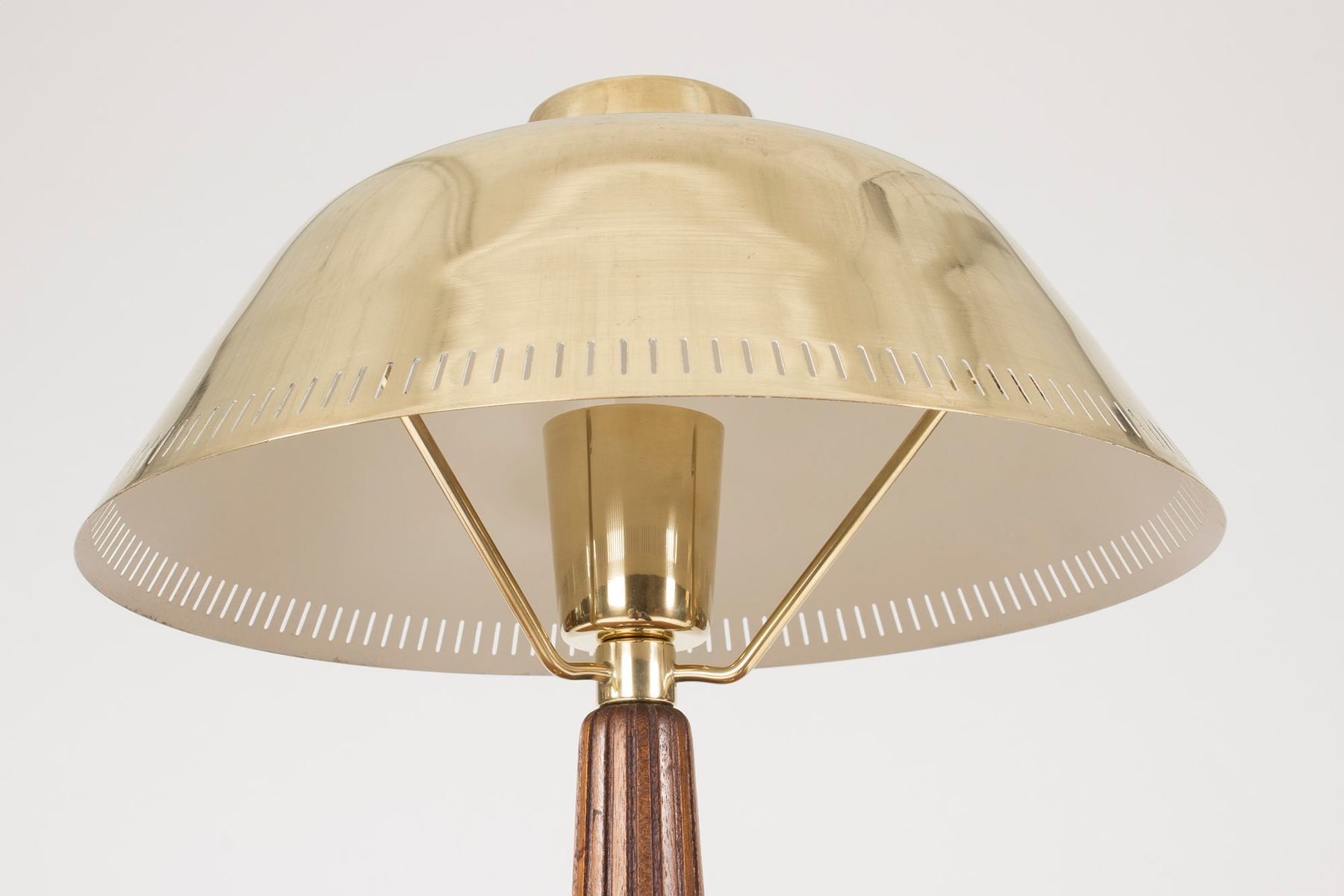 Mid century brass and mahogany table lamp by hans bergstrm for price per piece geotapseo Choice Image