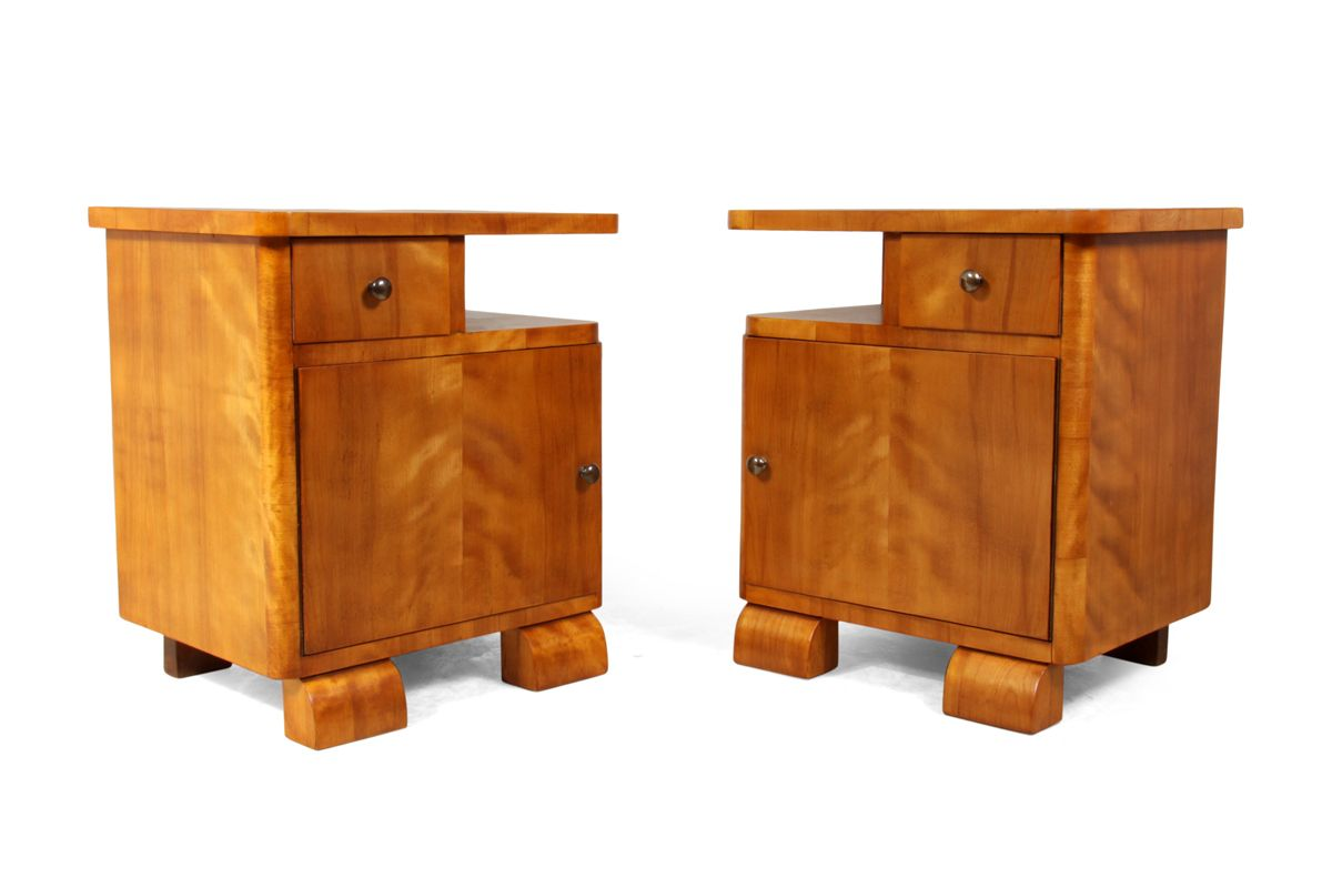Art deco scandinavian bedside cabinets 1930s for sale at for Miroir art deco 1930