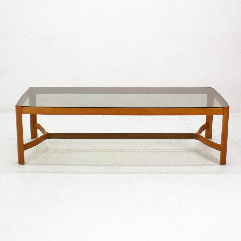 cherry glass coffee table