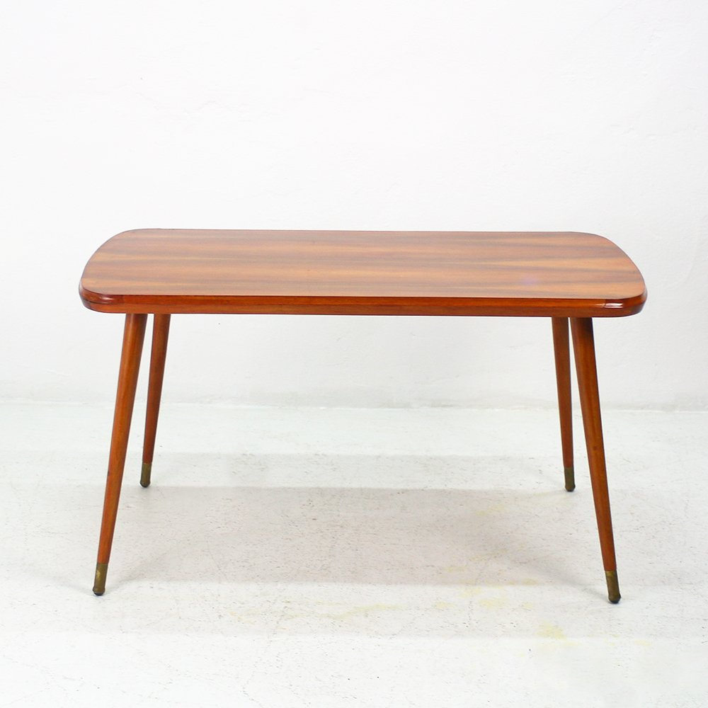 Retro Tripod Coffee Table Walnut: Vintage Walnut Coffee Table, 1950s For Sale At Pamono