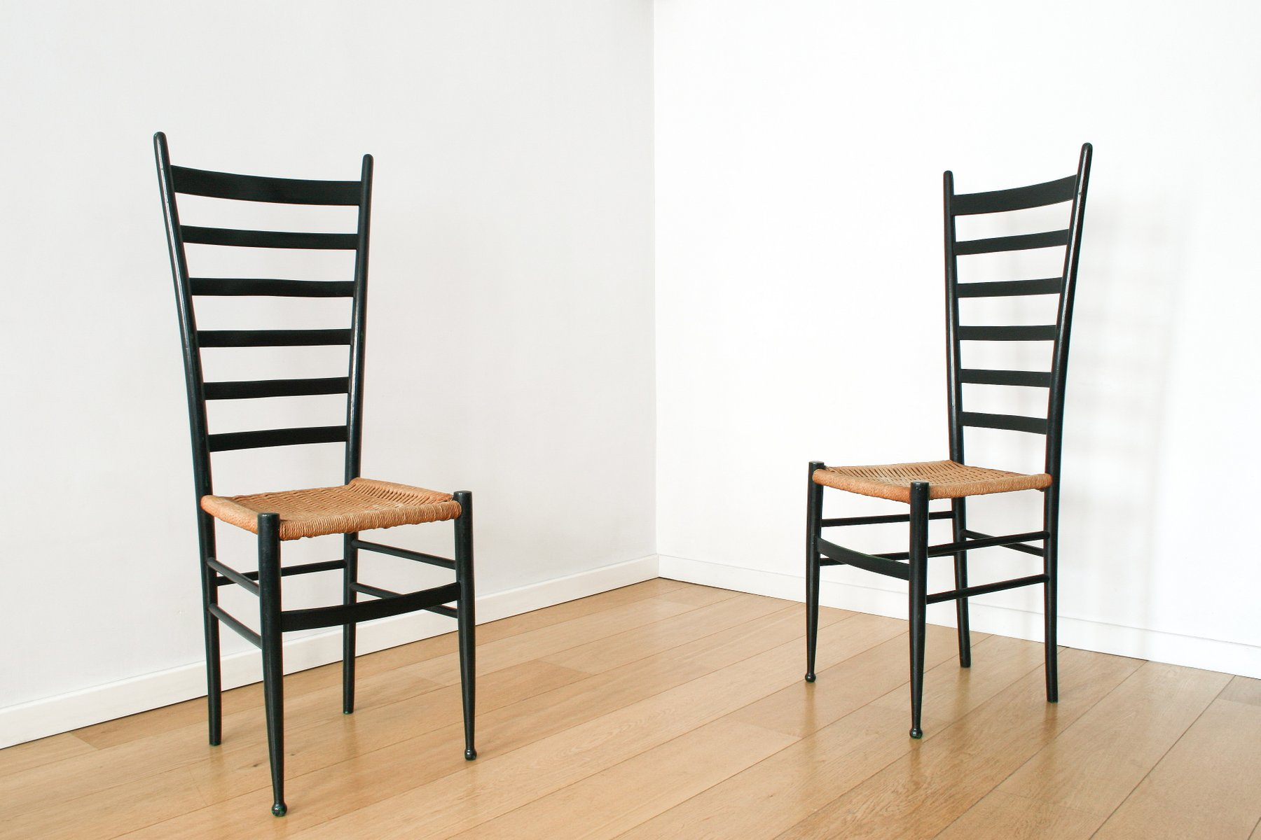 Italian Chiavari Ladderback Chairs 1950s Set of 2 for sale at Pamono