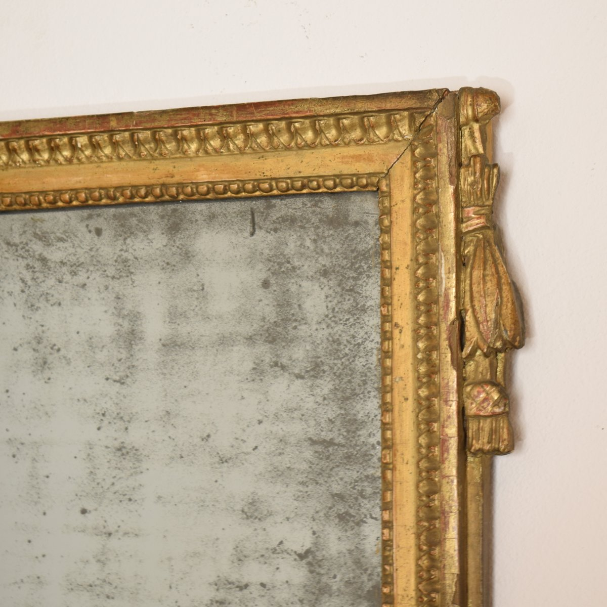 Antique french empire gilded mirror with original mirror for Antique french mirror