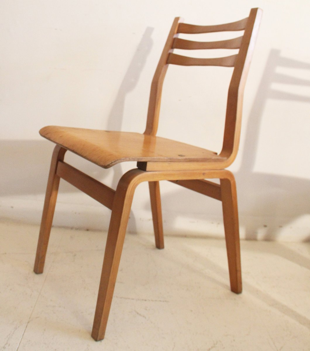Estonian bent plywood dining chairs 1960s set of 6 for for Set of 6 dining chairs