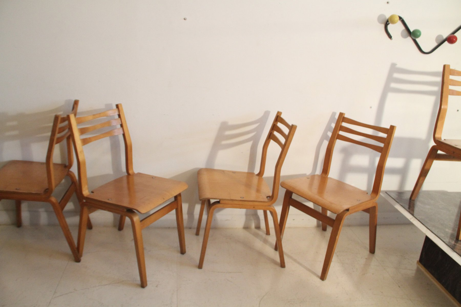 Estonian bent plywood dining chairs 1960s set of 6 for for S bent dining room furniture