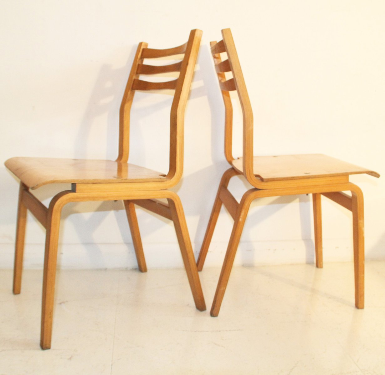 Bent plywood chair - Estonian Bent Plywood Dining Chairs 1960s Set Of 6