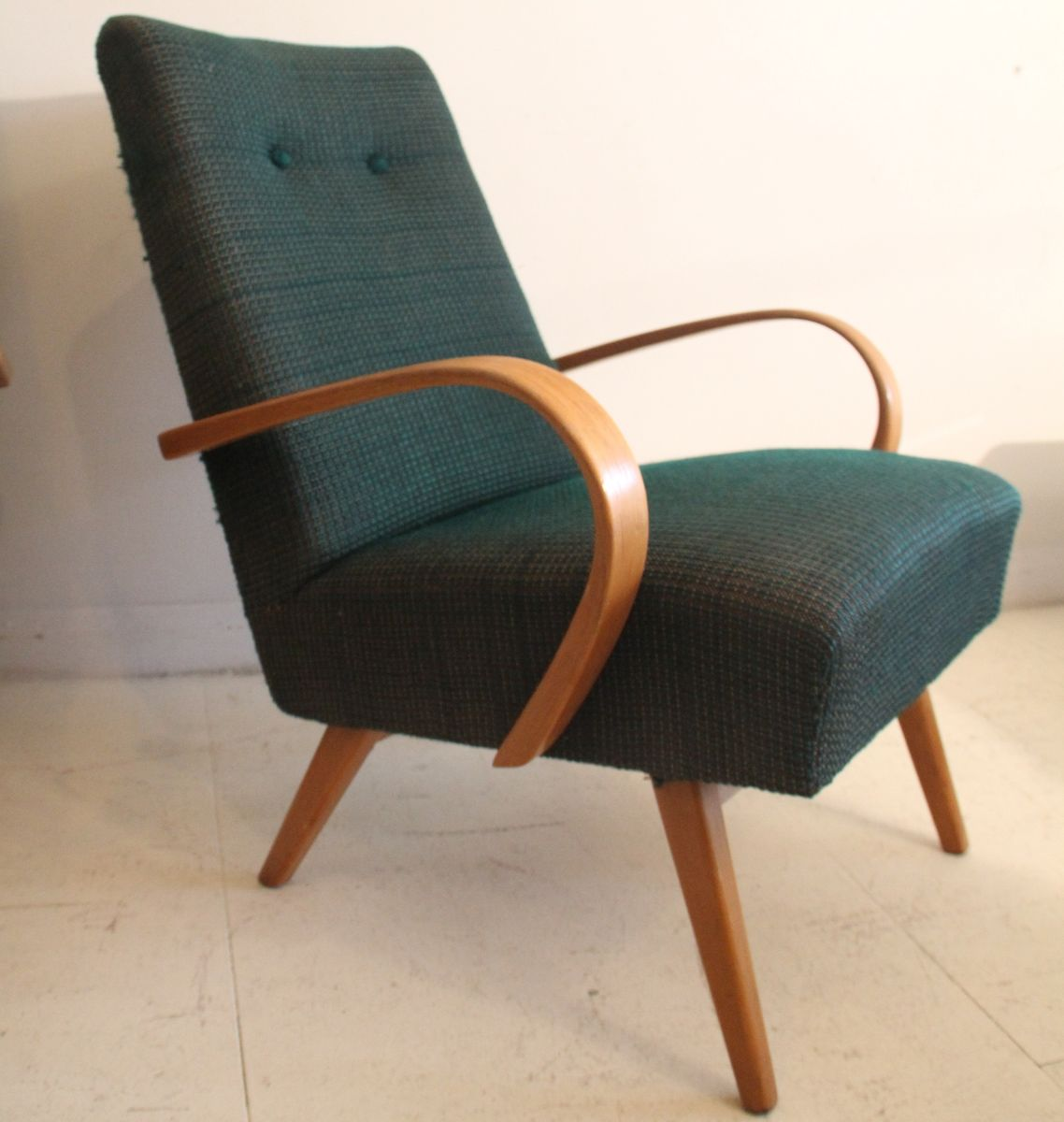Czech Armchair By Jindrich Halabala 1950s For Sale At Pamono