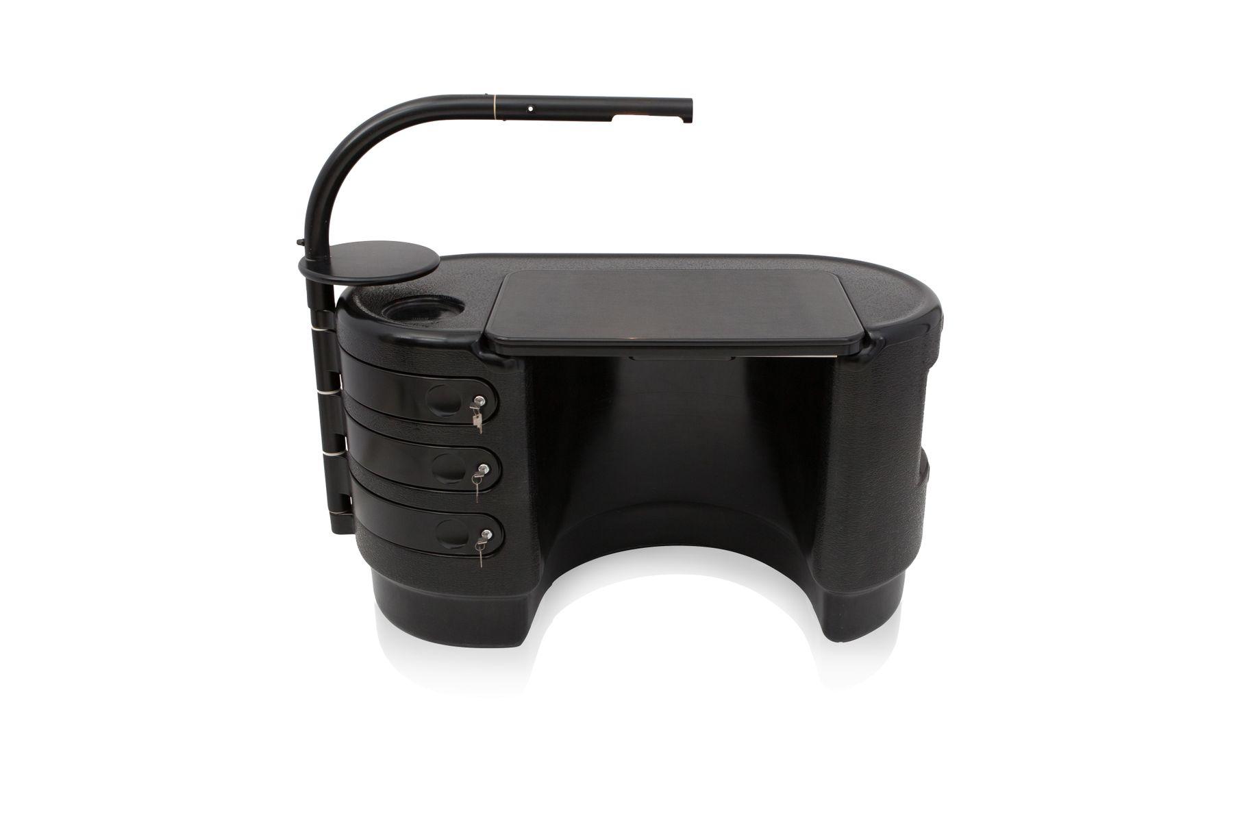 schwarzer hadi schreibtisch von ernest igl f r bayer. Black Bedroom Furniture Sets. Home Design Ideas