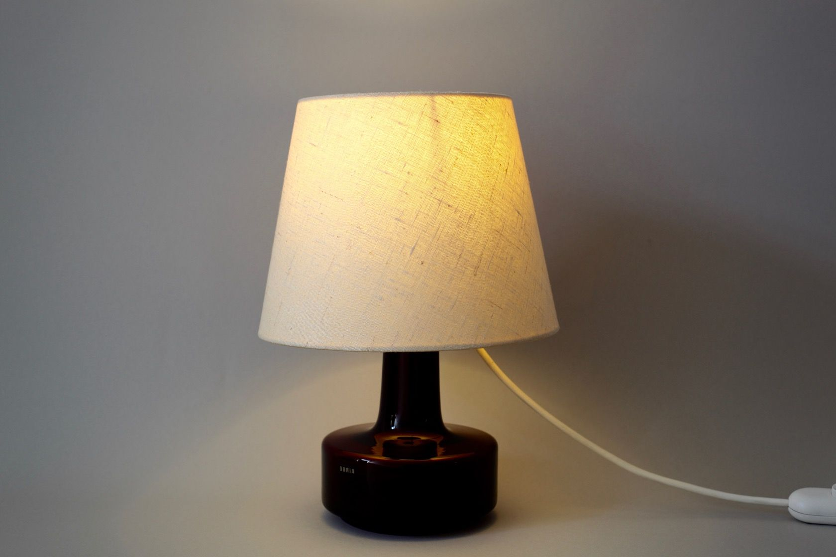 Table lamp with red glass base from doria 1960s for sale for Archimoon k table lamp