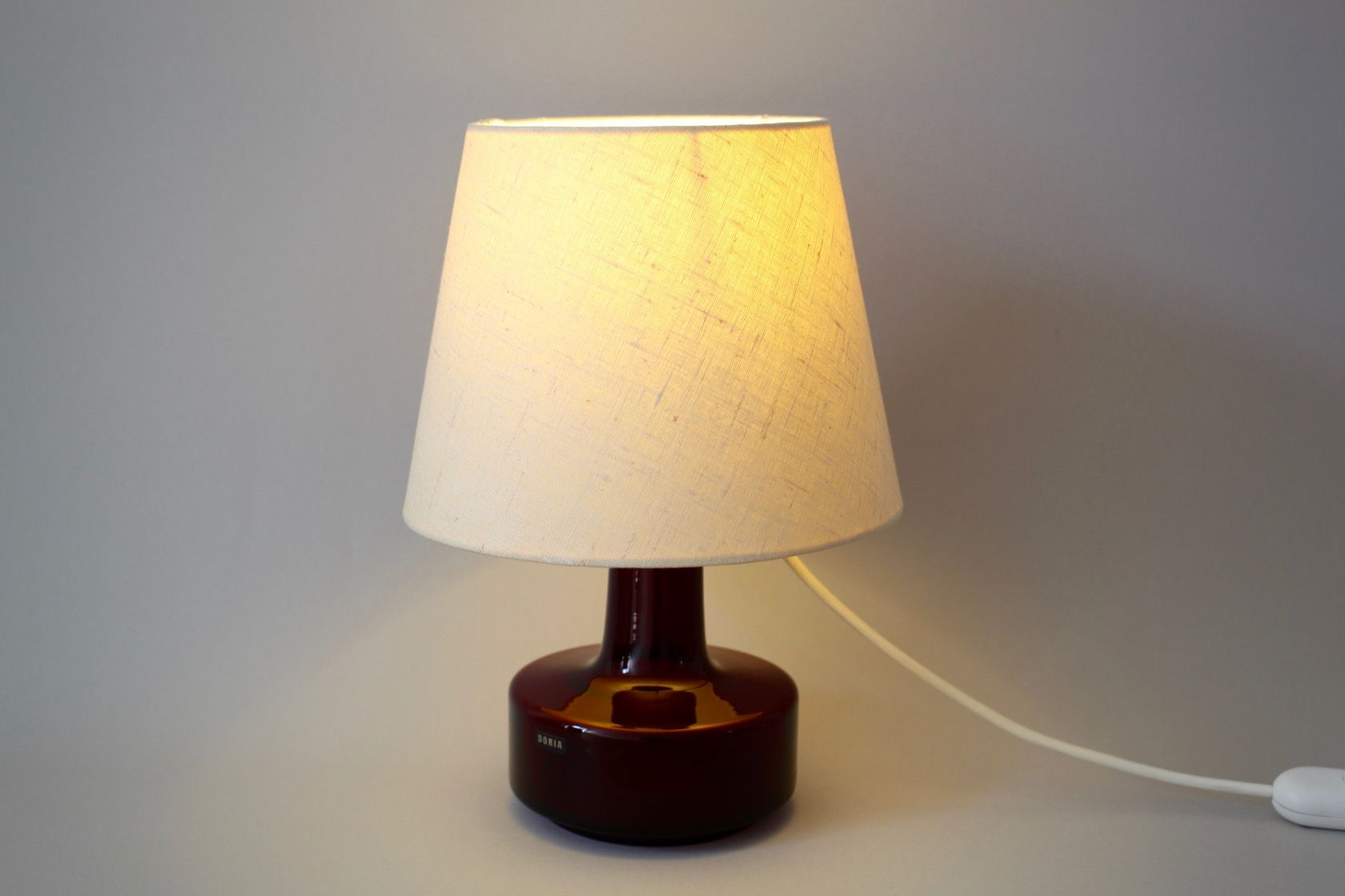 Glass red table lamp - Table Lamp With Red Glass Base From Doria 1960s 9 215 00 Price Per Piece