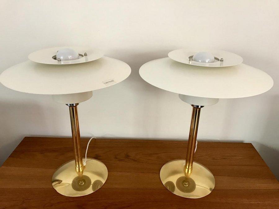 Vintage modell 2687 tischlampen von light studio f r horn for Tischlampen vintage