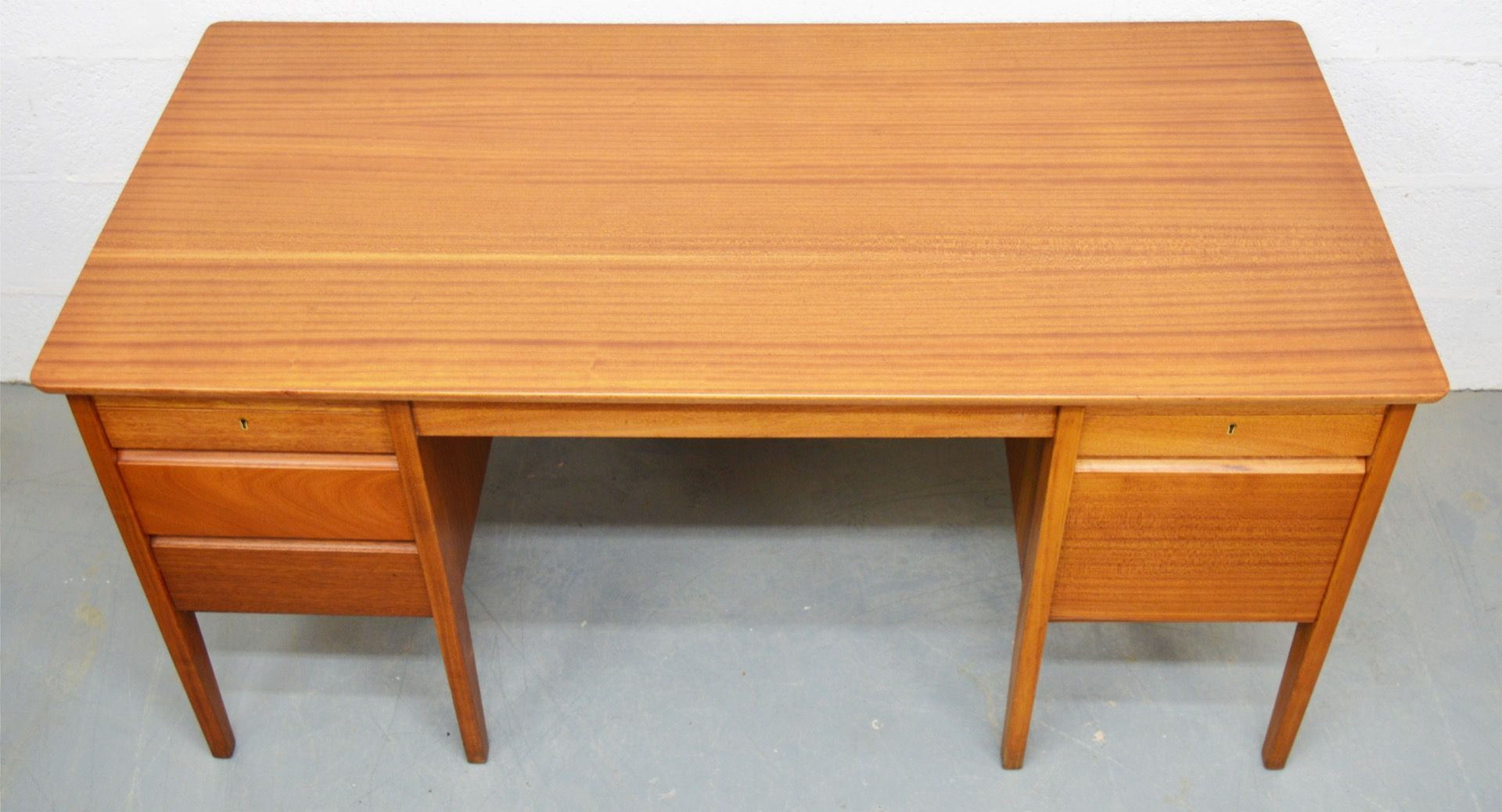 mid century teak schreibtisch von carsons 1960er bei. Black Bedroom Furniture Sets. Home Design Ideas