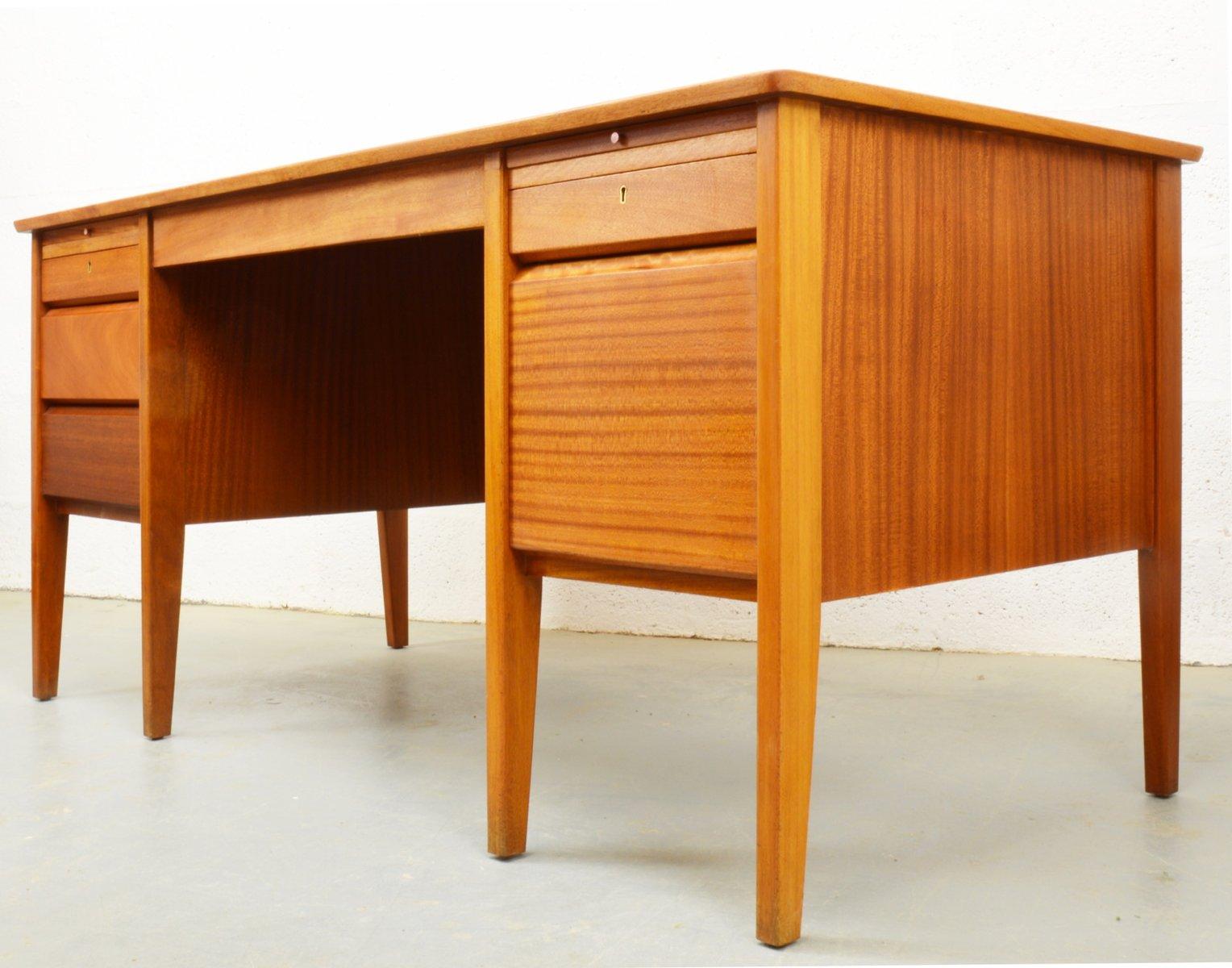 mid century teak schreibtisch von carsons 1960er bei pamono kaufen. Black Bedroom Furniture Sets. Home Design Ideas