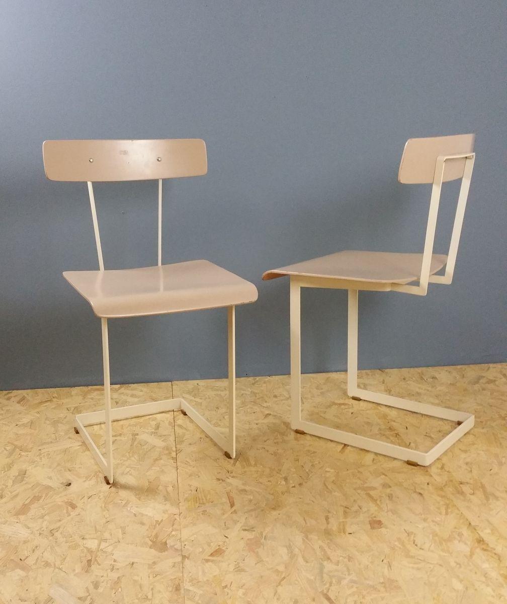 schreibtischst hle von auping 1950er 2er set bei pamono. Black Bedroom Furniture Sets. Home Design Ideas