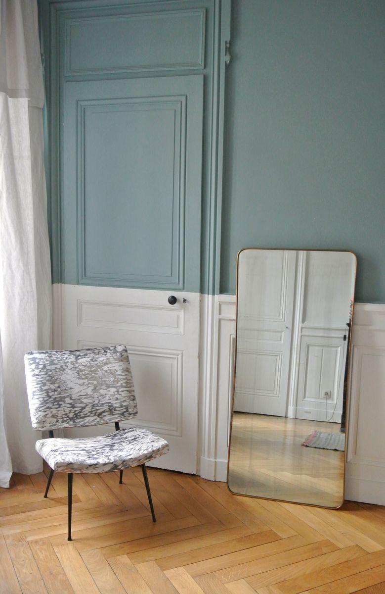 Miroir encadr en laiton organique italie 1950s en vente for Miroir en solde