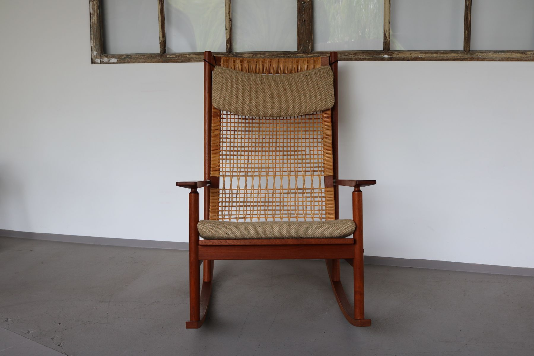 Danish Teak Rocking Chair by Hans Olsen for Brdr Juul Kristensen