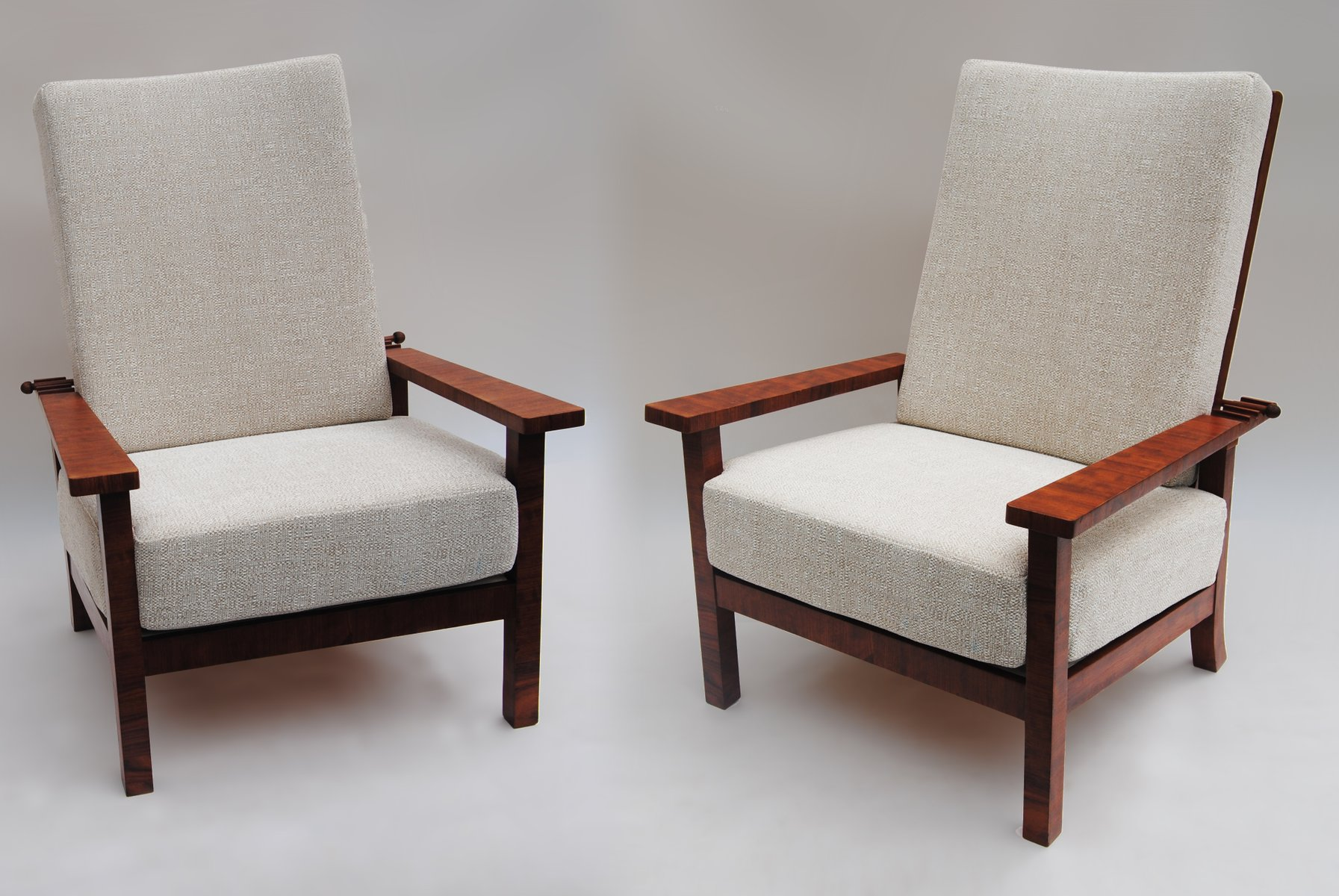 Vintage scandinavian adjustable armchairs set of 2 for for 2 armchairs for sale