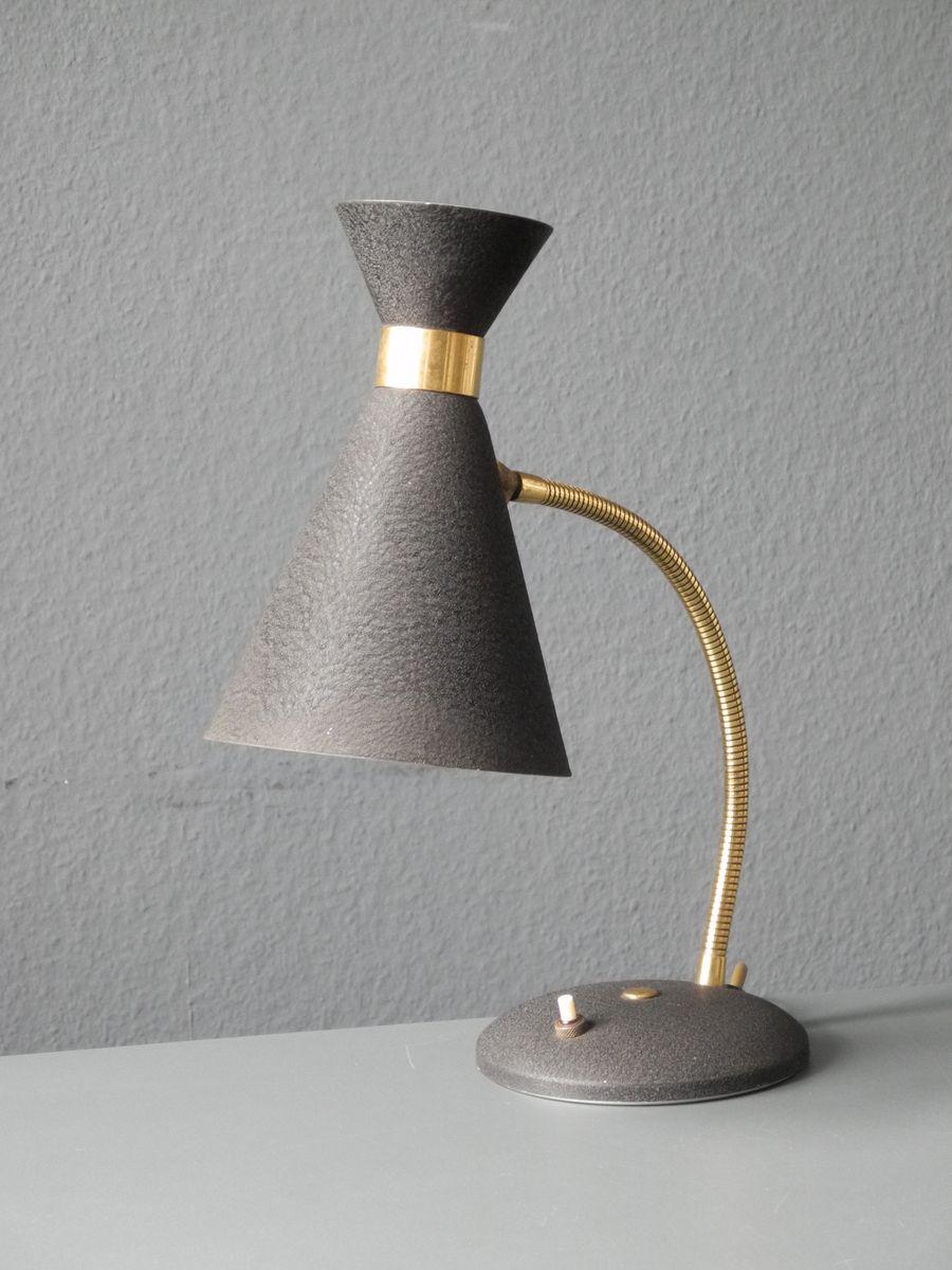 Mid century black gooseneck table lamp from stilnovo for for Z gallerie century table lamp