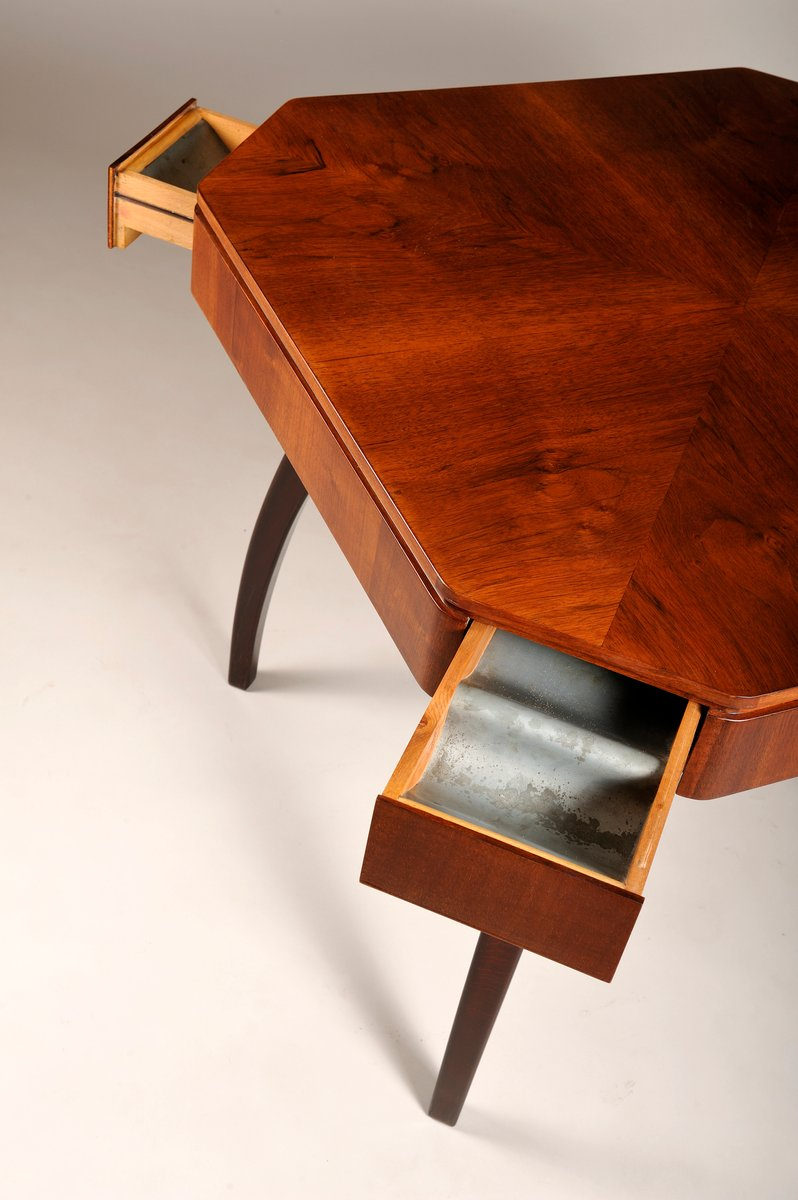 Vintage Coffee Table with 4 Drawers by Jindich Halabala for sale