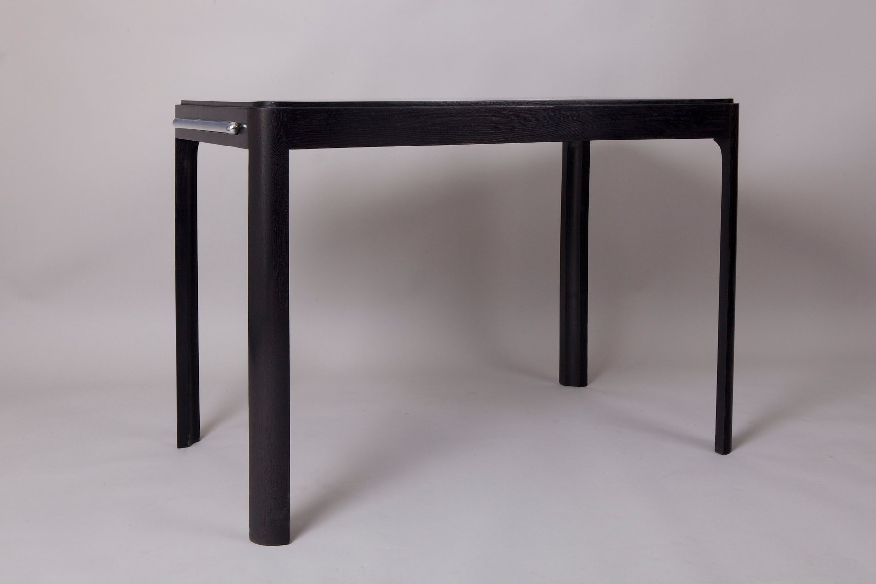 vintage black and red coffee table by jind ich halabala